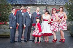 Rockabilly Wedding Party - how adorable is the flower girl?!