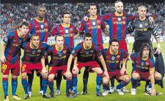 FC Barcelona Soccer Team .