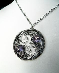 Inseparable Pendant - great use of negative space
