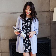 2015 new spring women's fashion personality V-neck long-sleeved knit cardigan A073F USD$35.67