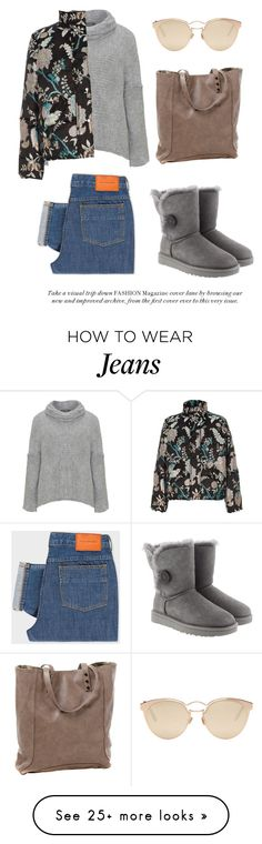 """Sun Ray In The Winter Day"" by nicolesynth on Polyvore featuring Amandine, Clava, Christian Dior, PS Paul Smith, UGG and River Island"