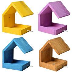 Design Vogelhaus Vogelhäuschen Futterhaus Vögel Vogelfutterhaus Vogelvilla Holz