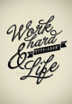 Work Hard by Sebastián Andaur \  Print here:  http://society6.com/andaurstudios/Work-Hard_Print
