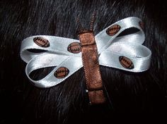 Sports Bows - Football Dragonfly $1 for a pair- Catch That Craft