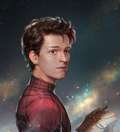 Homecoming Homecoming!新的一年元氣滿滿~跨年的材質練習,參考圖源:《Captain America: Civil War 》《Spider-Man:Homecoming》