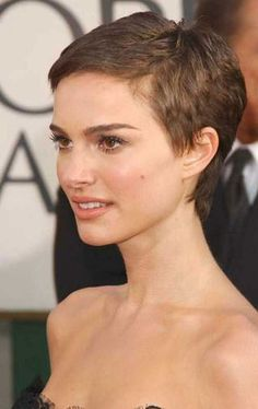 Very Short Pixie Cut Side …
