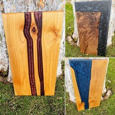 🍷🧀Just completed our latest batch of serving trays. Let us know what you think! *Left - Alder and Sangria *Top - Walnut and Black Onix *Right- Alder & Ocean Bright Paintings, Wood Cutting Boards, Serving Trays, Sangria, Dark Colors, Vintage Decor, Industrial Style, Home Interior Design, Natural Light