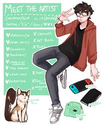 Meet The Artist by Trashkinq on DeviantArt Art Reference Poses, Drawing Reference, Sky Aesthetic, Drawing Clothes, Meet The Artist, Character Description, Character Design Inspiration, Cool Drawings, Anime Guys