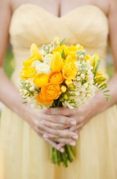 floral, bouquet, flowers, rose, tulips, real, classic, bouquets, garden, yellow, by:, inspired, sunny, wedding, Malibu, California