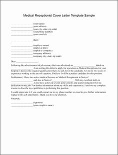 Format On How To Write An Application Letter For A Receptionist