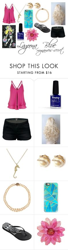 """Monster High Lagoona Blue"" by mynameis-secret ❤ liked on Polyvore featuring Limedrop, Finn, Lulu Frost, Alice Joseph Vintage, Casetify and Havaianas"