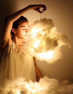 Nube de algodon con lámpara de papel