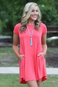 Lavish Boutique  - Above All Else Dress: Coral , $34.00 (http://lavishboutique.com/above-all-else-dress-coral/)