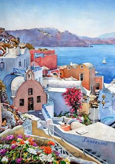 Watercolour painting by P.Zografos