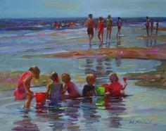TIDE POOL KIDS, painting by artist Elizabeth Blaylock