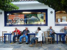 Jim Bliesner exhibition at the Skopelos Municipal Cafe