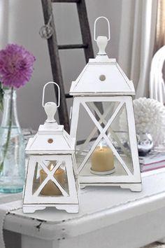 Wood Lanterns - Set of 2 by Coastal Living Decor on @HauteLook