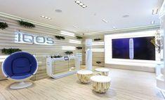 IQOS Flagship Store - Phillip MorrisCriatividade e concepção de loja IQOS no Chiado em Lisboa Camera Store, Graphic Design Services, Retail Design, Keep It Cleaner, Behance, Popup, Showroom, Logos, Shop