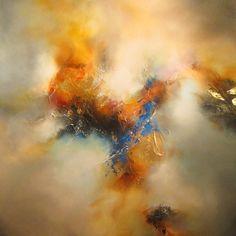 Simon Kenny 'Covenant' - Mixed media painting on canvas Mixed Media Painting, Oil Painting Abstract, Painting & Drawing, Oil Paintings, Indian Paintings, Painting Lessons, Landscape Paintings, Art Aquarelle, Art Watercolor
