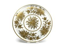Large Paris Porcelain Platter / Hand Painted Gold Gilded Flowers / French / Artist Signed - pinned by pin4etsy.com