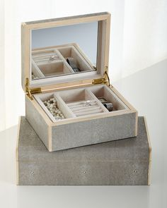 Pigeon and Poodle Rennes Sand Jewelry Boxes
