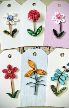 Paper quilling Flower Gift Tagwedding gift by SweetPaperDesignSol Quilled Paper Art, Paper Quilling Designs, Quilling Paper Craft, Quilling Patterns, Paper Crafts, Diy Paper, Neli Quilling, Quilled Creations, Wedding Gift Tags