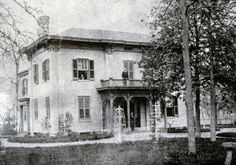 """1306 N. Park Ave., Ovid Butler-Shaw House, """"Forest House"""", c. 1870s :: Indianapolis Historic Preservation Commission Image Collection"""
