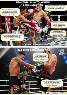 Muay Thai knee demo - repined by http://www.mmastop.com/ #MMAStop