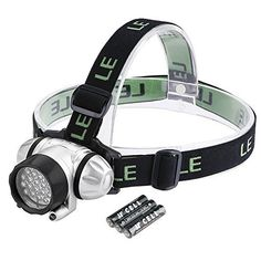 Perfect Camping Companion-LE Headlamp LED, 4 Modes Headlight, Battery Powered Helmet Light for Camping