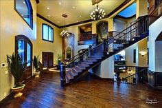 like the floors, staircase and openness