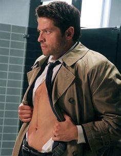 Misha as Cas, oh my Chuck, he is a gorgeous man. Misha Collins, Matt Cohen, Jensen Ackles, Sam Dean, Jared Padalecki, Decimo Doctor, Supernatural Destiel, Supernatural Bunker, My People