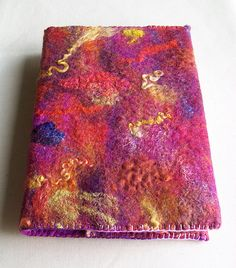 Felt. Pretty wet felted book cover by Zed