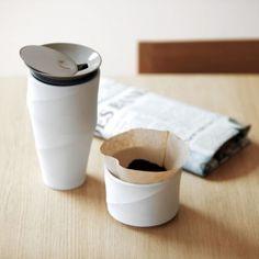 WAVE COMMUTER MUG // beautiful designed mug and filter