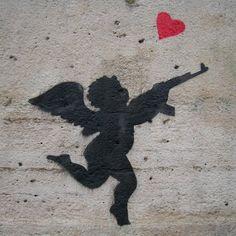 Street art in Le Marais district of Paris.
