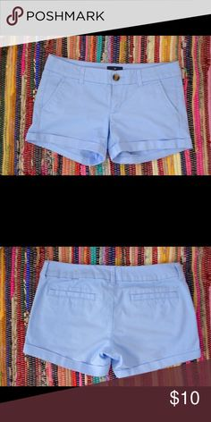 THE NEW BLUE SHORT Baby blue shorts that go with your summer skin. Wear them to the park or to lunch with the girls. Super comfortable American Eagle Outfitters Shorts