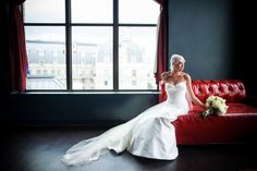 See our beautiful #DCWedding --- bride portrait elegant gorgeous wedding in Washington DC The observatory 550x366 Gorgeous Ballroom Wedding Ceremony in Downtown Washington DC: Shannon + Jeffery