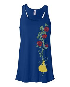 Only $24.99 GLITTER Belle Beauty and the Beast Royal Flowy Tank