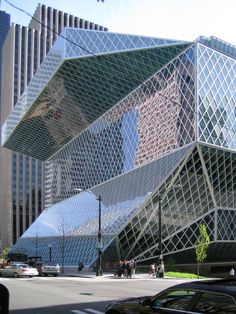 Seattle Central Library - 11 floors of awesome architecture and design. The kids book room is bigger than some WHOLE libraries that I've been to. Been there four times and still haven't seen most of it!