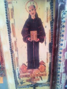 St. Bernardine of Sienna. Patron saint of Communications Professionals, Public Relations, Advertisers, and... Gambling Addicts. What's the connection here, I wonder.