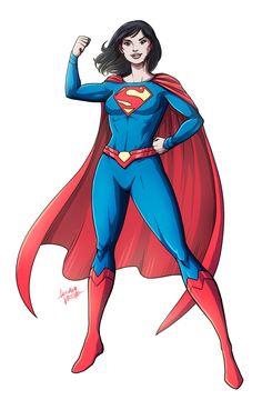 "lucianovecchio: ""Lois Lane in Superman Reborn costume - Commission "" Female Superheroes And Villains, Dc Comics Characters, Dc Comics Art, Comics Girls, Female Comic Characters, Melissa Supergirl, Supergirl Comic, Marvel Dc, Marvel Comics"