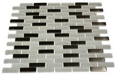 loft ice cave 1/2x2 brick pattern glass tile - shop glass tiles at glasstilestore.com
