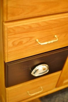 "Re-do honey oak (wooden or laminate) cabinets or furniture with ""General Finishes Java Gel Stain"" (absolutely NO substitutions for this by annemarie.nitsche.9"