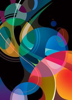 ✤✤ Matt W Moore aka MWM Graphics Great example image Modern Art, Contemporary Art, Circle Art, Mural Art, Art Plastique, Geometric Art, Art Lessons, Pop Art, Street Art