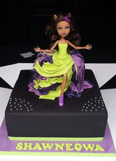 Clawdeen Wolf Cake, Monster High Cake