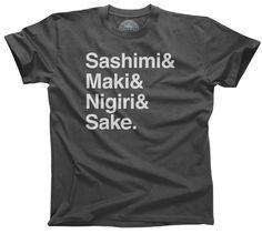 Men's Sashimi Maki Nigiri Sake Sushi T-Shirt