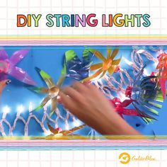 These DIY String Lights are great for brightening up any room! And the colors make them super fun. Try out this DIY Decor Hack at home today! String Lights, Decorating Tips, Hacks, Activities, Colors, Girls, Projects, Room, How To Make