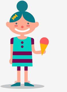 Meisje heeft haar ijsje laten vallen.