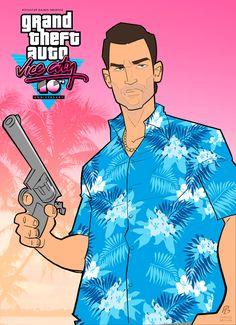 aymane and gta Grand Theft Auto: Vice City Anniversary Gta City, Call Of Duty, Gta Pc, San Andreas Gta, Gta Funny, Burn Free, Grand Theft Auto Series, Wallpapers En Hd, Rockstar Games