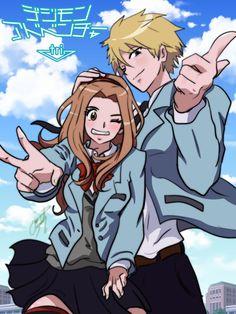 """Yamato """"Matt"""" Ishida and Mimi Tachikawa #DigimonTri #Mimato"""