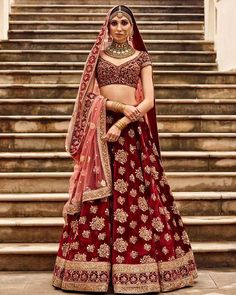 Sabyasachi heritage bridal red lehenga...
